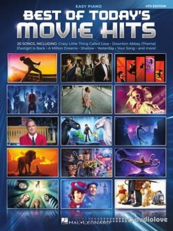 Best of Today's Movie Hits Easy Piano Songbook 4th Edition