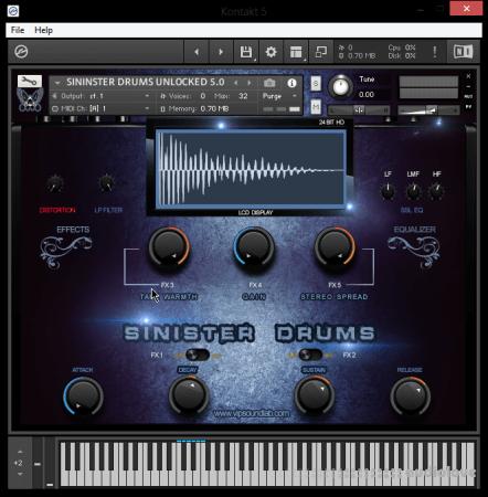 Vip Soundlab Sinister Drums HD
