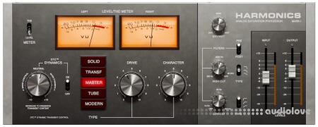 Softube Harmonics Analog Saturation Processor