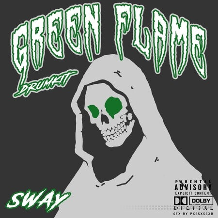 Sway55 Sway Green Flame DRUMKIT