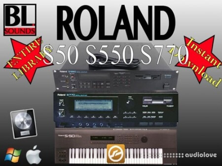 BL Sounds ROLAND S50 S550 S770 Library WAV EXS
