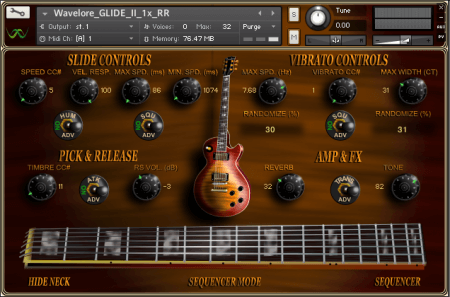 Wavelore GLIDE II Electric Slide Guitar 1x RR KONTAKT